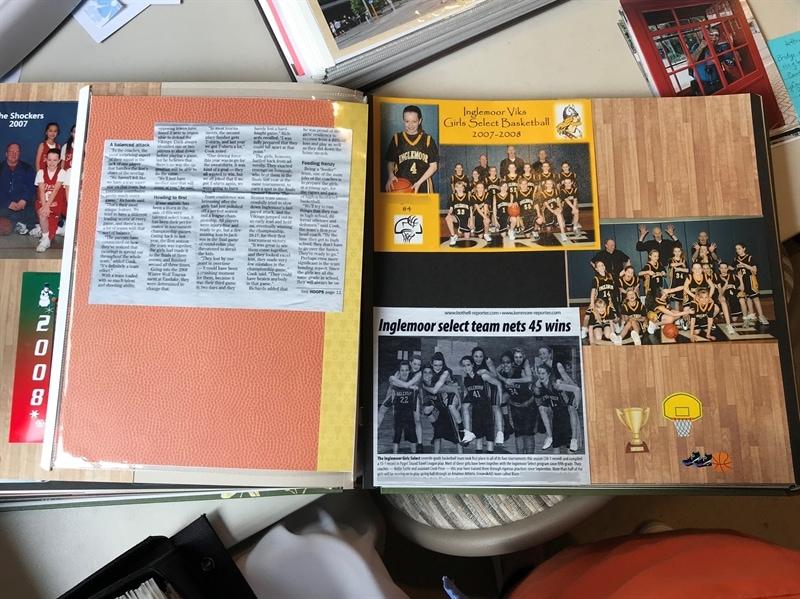 Scrapbook Basketball Memories
